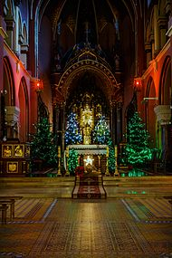 The altar of the church on Christmas eve.JPG