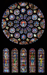 The south transept rose at Notre-Dame de Chartres