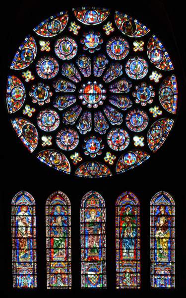 South Transept Rose Window Of Chartres Cathedral 1221 1230