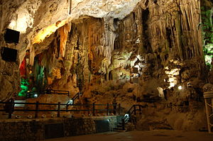 St. Michael's Cave - The auditorium stage at the Cathedral Cave.