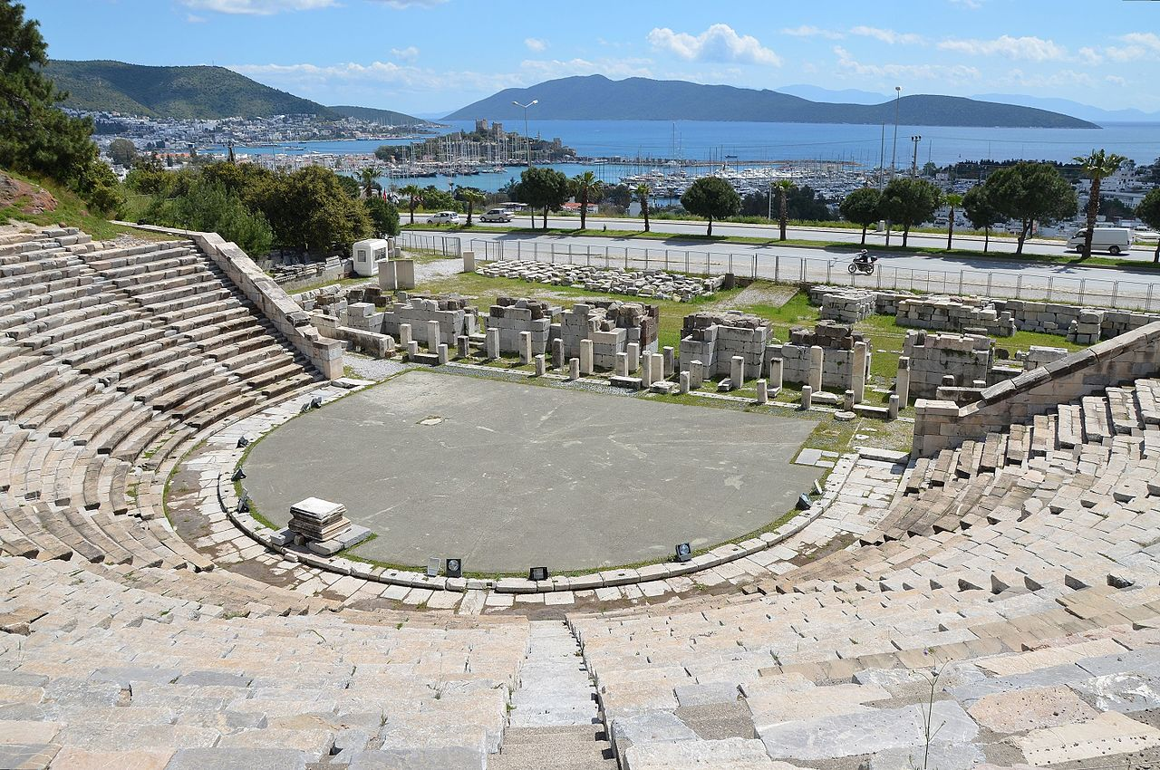 Theatre of Halicarnassus overlooking Aegian sea