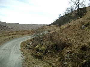 English: The track up Glen Finglas.