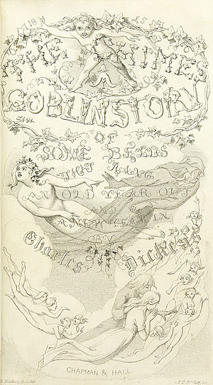 The Chimes - Title page of first edition, 1844 with engraving by F.P. Becker