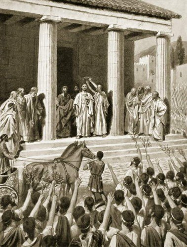 Themistocles honoured at Sparta, illustration from 'Hutchinson's History of the Nations', 1915