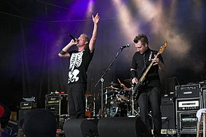 Thousand Foot Krutch - Thousand Foot Krutch in June 2009 (From L to R) Trevor McNevan and Bassist Joel Bruyere