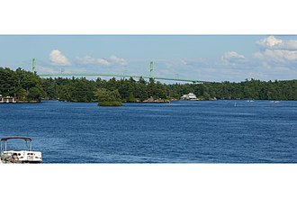 Thousand Islands Bridge - Image: Thousand Islands Bridge from Ivy Lea 2