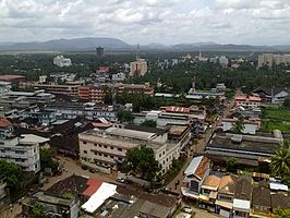 Uitzicht over de stad en het district Thrissur