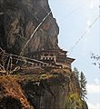 Tiger's Nest or Lair - Paro Buddhist Taktsang Palphug Monastery sacred site in the upper Paro Valley built 1692 - panoramio (2).jpg