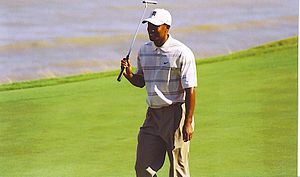 Tiger Woods at 2004 PGA Championship in Kohler...