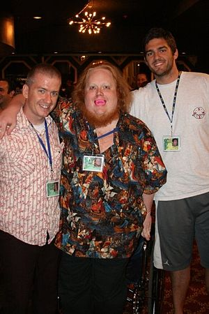 Harry Knowles - Harry Knowles (center) along with Tim League (left) and Cole Dabney at the 2010 Fantastic Fest.