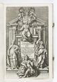 """Titelblad till """"Topografi av Hessen och närområdena."""" från 1646 - Skoklosters slott - 93264.tif"""