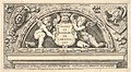 Titeplate to series of prints after Poloidoro, title on a shield supported by two putti MET DP832023.jpg