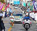 Tokyo-Hakone collegiate ekiden reach the goal line.JPG