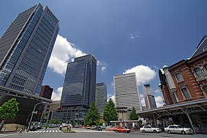 Marunouchi - In front of the Marunouchi exit of Tokyo Station