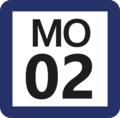 Tokyo Monorail MO-02 station number.png