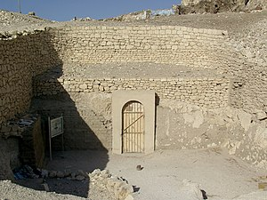 TT69 - Entrance to the tomb of Menna