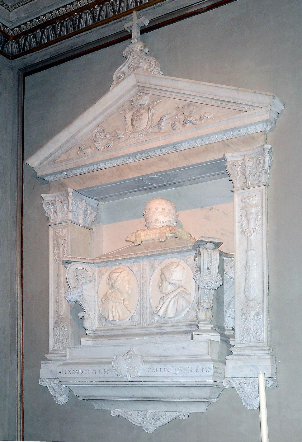 Tomb of Popes Borja ( Callisto III and Alessandro VI)