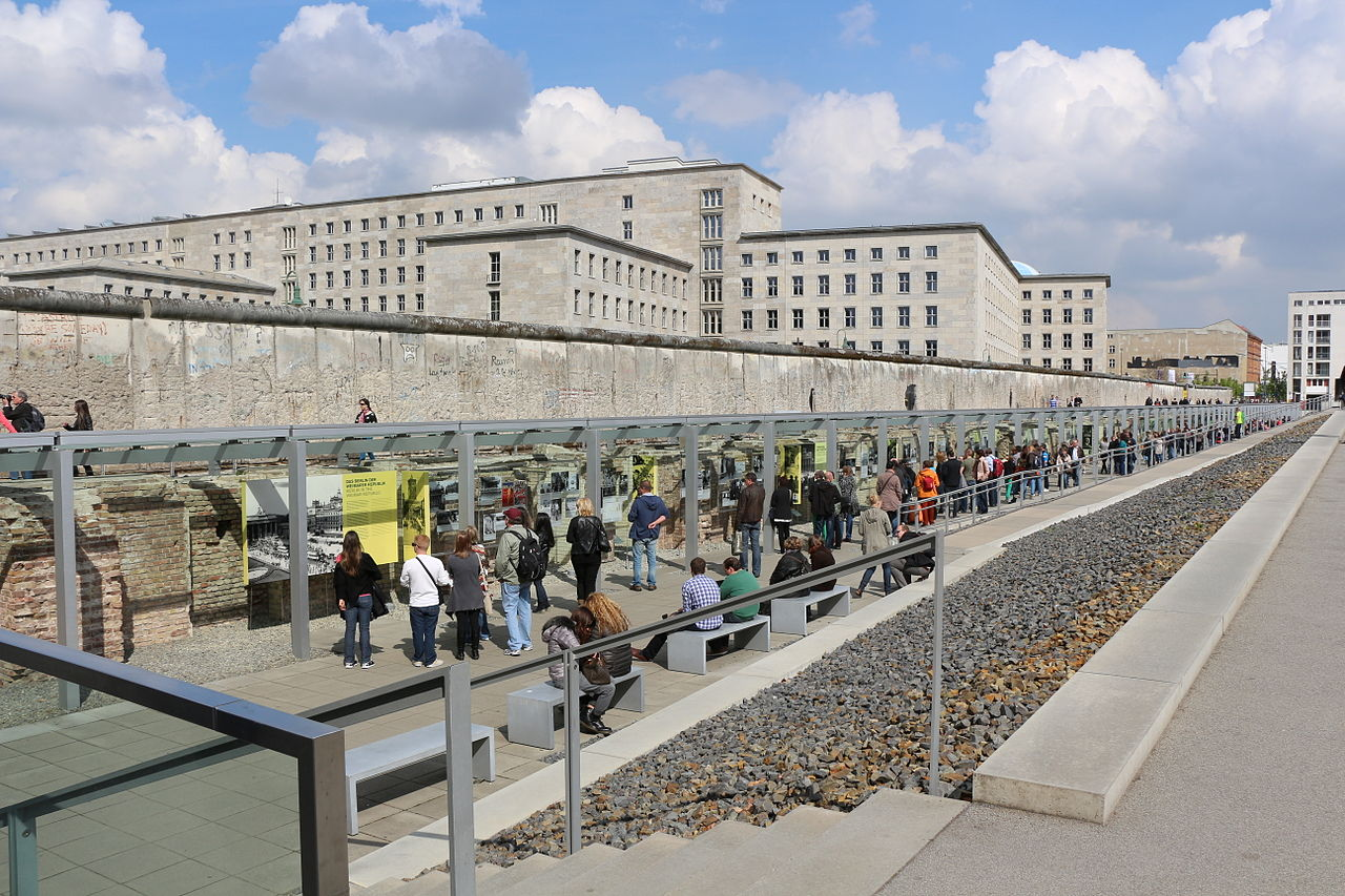The Topography of Terror, with the Berlin Wall in the background