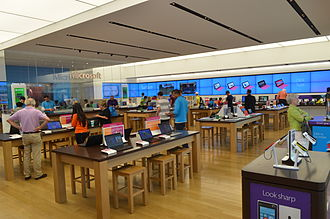 Microsoft Store - Microsoft Store in Yorkdale Toronto, the first store outside the U.S.