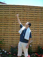 An Israeli fan celebrating Towel Day