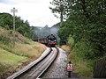 Train arriving at Haworth Station - geograph.org.uk - 928620.jpg