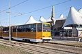 Tram in Sofia in front of Central Railway Station 2012 PD 068.jpg