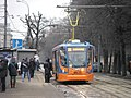 Tram number 4635, route 35 in Moscow, near Nagatinskaya metro station. 2014-02-24.JPG