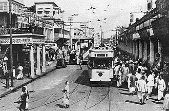 Calcutta Tramways Company - A tram in 1945