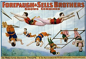 Adam Forepaugh - Image: Trapeze artists 1899
