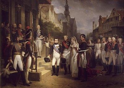 提爾西特會議中的拿破崙。