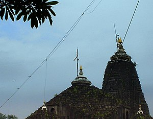 Trimbakeshwar Shiva Temple - close up of the top of Trimbakeshwar Temple