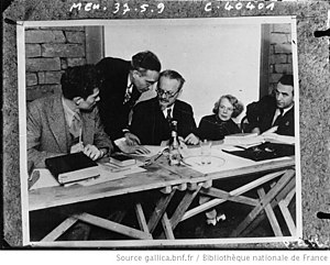 Natalia Sedova - Mexico 1937; left to right: Jean van Heijenoort, Albert Goldman, Leon Trotsky, Natalia Sedova, Jan Frankel