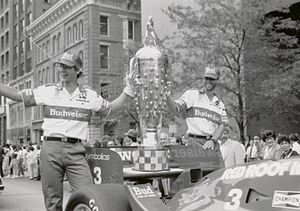 Jim Trueman - Truesports victory parade in Columbus, Ohio. Trueman was too ill to attend.