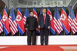 Trump and Kim pose a photo before Singapore Summit.jpg