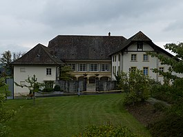 Former country manor house Steiger near Tschugg village