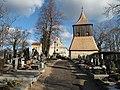 Tuřany (Kladno District), zvonice a kostel (001).JPG