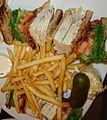 Turkey sandwich at a diner with French Fries.jpg