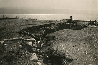 History of the Ottoman Empire during World War I - Image: Turkish trenches at Dead Sea 2