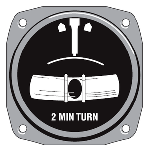 Turn and slip indicator - Illustration of the face of a turn-and-slip indicator