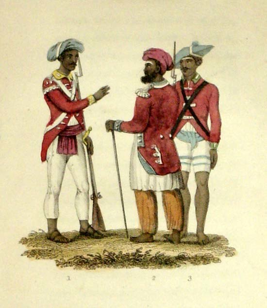 Two Seapoy Officers; A Private Seapoy
