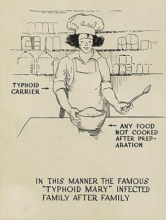 Mary Mallon - A historical poster warning against acting like Typhoid Mary