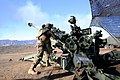 U.S. Marine Corps Pfc. Arnold Millan, an artilleryman with Bravo Battery, 1st Battalion, 11th Marine Regiment, clears the barrel of a M777 lightweight howitzer after firing a mission in support of Exercise Steel 131213-M-IP810-002.jpg