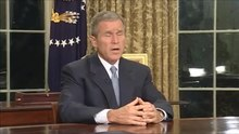 Ficheiro:U.S. President George W. Bush's address to the nation on the day's terrorist attacks (September 11, 2001).ogv