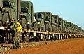 U.S. marines prepare to off load 48 Humvees at Rockhampton, Australia, for exercise Tandem Thrust.jpg