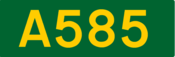A585 road shield