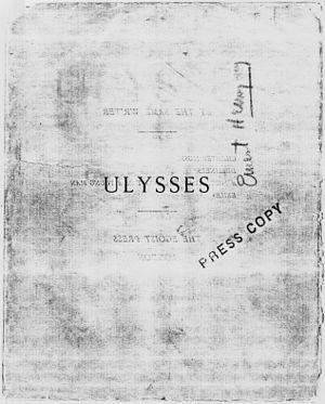ULYSSES with Hemingway Signature - NARA - 192691