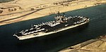 USS America (CV-66) in the Suez Canal 1992.jpg