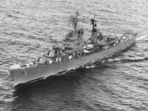 USS Norfolk (DL-1) underway c1964