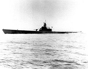 USS Sculpin (SS-191) - USS Sculpin (SS-191) off San Francisco, California, on 1 May 1943, following an overhaul.