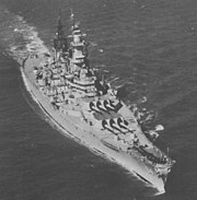 USS Wisconsin (BB-64) off Norfolk during 1950s